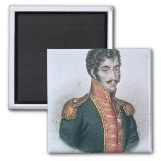 Portrait of Simon Bolivar Fridge Magnet