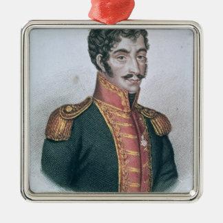 Portrait of Simon Bolivar Metal Ornament