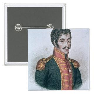 Portrait of Simon Bolivar Pinback Button