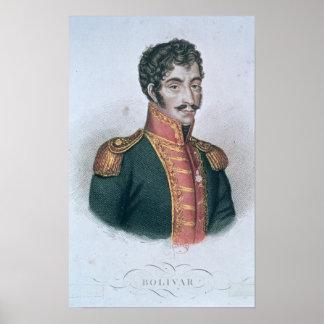 Portrait of Simon Bolivar Poster