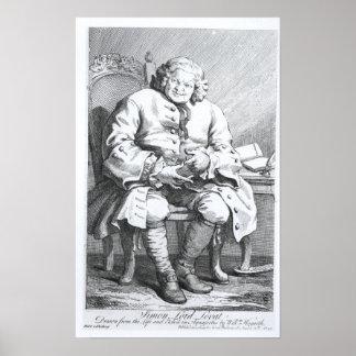 Portrait of Simon Fraser, Lord Lovat Poster