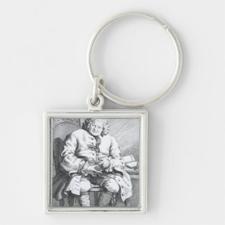 Portrait of Simon Fraser, Lord Lovat Silver-Colored Square Keychain
