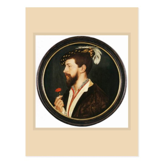 Portrait of Simon George by Hans Holbein Younger Postcard