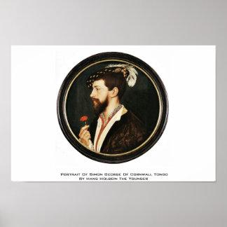 Portrait Of Simon George Of Cornwall Tondo Poster