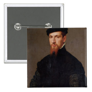 Portrait of Simon Renard  1553 Button