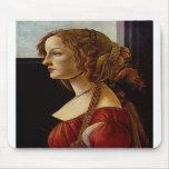Portrait of Simonetta Vespucci by Botticelli Mouse Pad