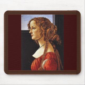 Portrait Of Simonetta Vespucci By Botticelli Sandr Mouse Pad