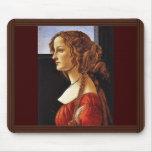 Portrait Of Simonetta Vespucci By Botticelli Sandr Mousepad