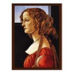 Portrait Of Simonetta Vespucci By Botticelli Sandr Postcard