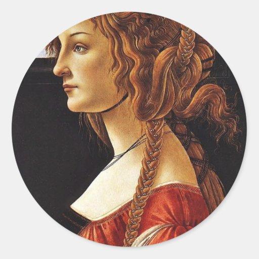 Portrait Of Simonetta Vespucci By Botticelli Sandr Stickers