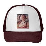 Portrait Of Simonetta Vespucci By Piero Di Cosimo Mesh Hats