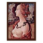 Portrait Of Simonetta Vespucci By Piero Di Cosimo Postcards