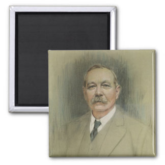 Portrait of Sir Arthur Conan Doyle 2 Inch Square Magnet