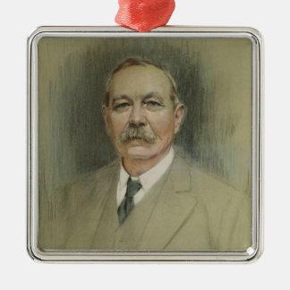 Portrait of Sir Arthur Conan Doyle Metal Ornament