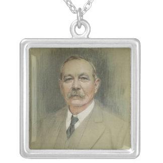 Portrait of Sir Arthur Conan Doyle Silver Plated Necklace