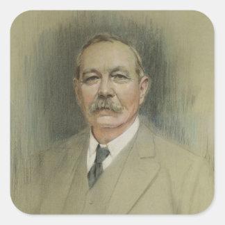 Portrait of Sir Arthur Conan Doyle Square Sticker