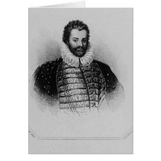 Portrait of Sir Christopher Hatton Card