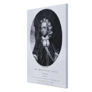Portrait of Sir Christopher Minns Canvas Print