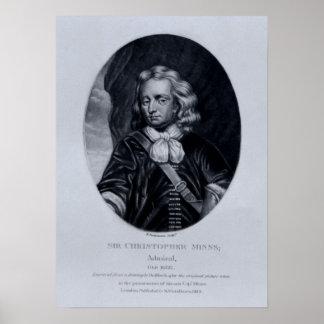 Portrait of Sir Christopher Minns Print