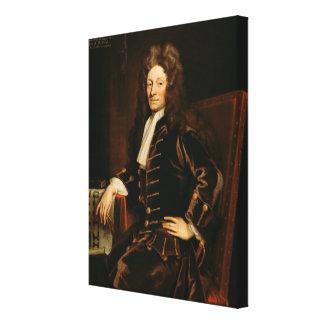 Portrait of Sir Christopher Wren  1711 Canvas Print