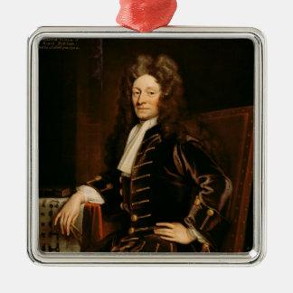 Portrait of Sir Christopher Wren  1711 Metal Ornament