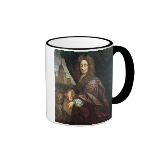 Portrait of Sir Christopher Wren (oil on canvas) Ringer Mug