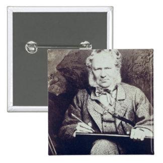 Portrait of Sir Edwin Landseer (1802-73) (albumen Pinback Button