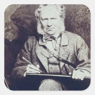 Portrait of Sir Edwin Landseer (1802-73) (albumen Square Sticker