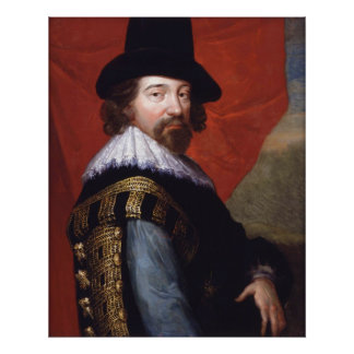 Portrait of Sir Francis Bacon Viscount St Alban Poster