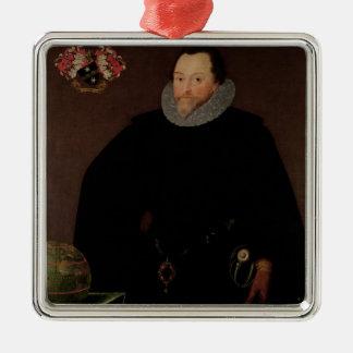 Portrait of Sir Francis Drake  1591 Metal Ornament