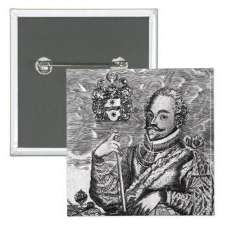 Portrait of Sir Francis Drake 2 Inch Square Button