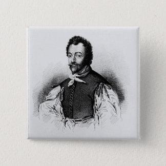 Portrait of Sir Francis Drake Button