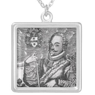 Portrait of Sir Francis Drake Silver Plated Necklace