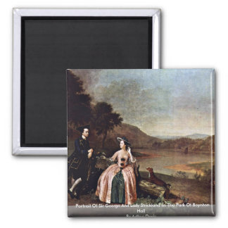 Portrait Of Sir George And Lady Strickland Magnet