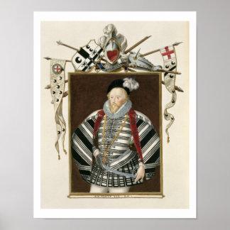 Portrait of Sir Henry Lee (1530-1610) from 'Memoir Poster