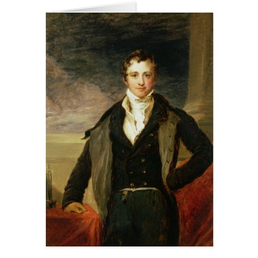 Portrait of Sir Humphry Davy Greeting Card
