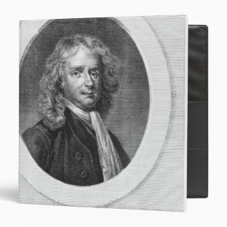 Portrait of Sir Isaac Newton 3 Ring Binder