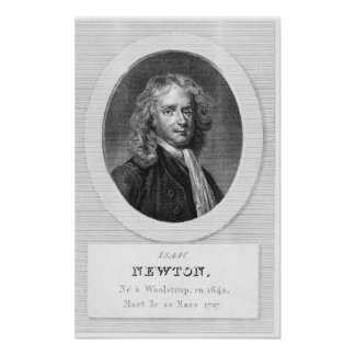 Portrait of Sir Isaac Newton Poster