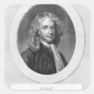 Portrait of Sir Isaac Newton Square Sticker
