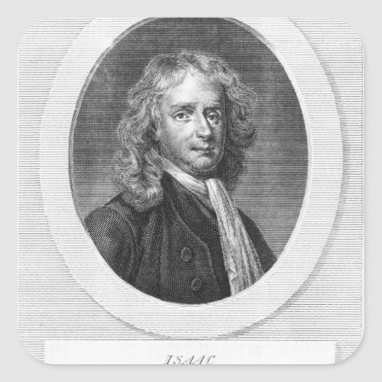 Portrait of Sir Isaac Newton Square Sticker