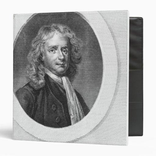 Portrait of Sir Isaac Newton Vinyl Binder
