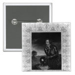 Portrait of Sir Jeffrey Amherst 2 Inch Square Button