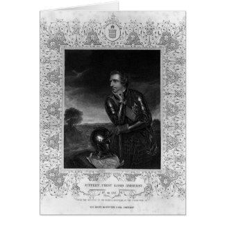 Portrait of Sir Jeffrey Amherst Greeting Card
