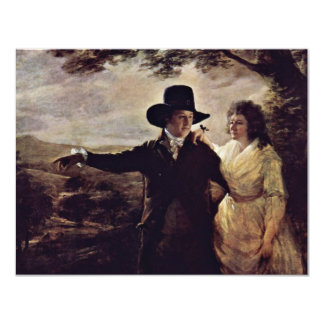 Portrait Of Sir John And Lady Clerk By Sir Henry Personalized Invitations