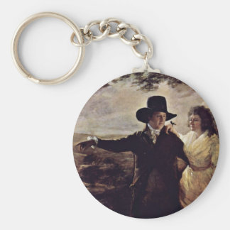 Portrait Of Sir John And Lady Clerk By Sir Henry Key Chains