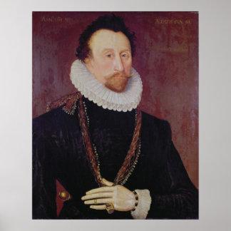 Portrait of Sir John Hawkins  1581 Poster