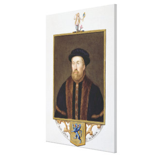 Portrait of Sir John Mason (1503-66) from 'Memoirs Stretched Canvas Prints