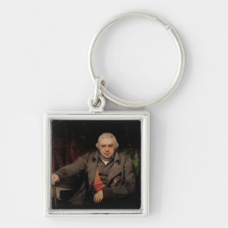 Portrait of Sir Joseph Banks, 1810 Silver-Colored Square Keychain
