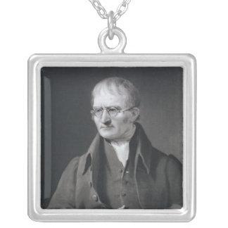 Portrait of Sir Joseph Thomson Square Pendant Necklace