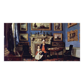 Portrait Of Sir Lawrence Dundas And His Grandson, Picture Card